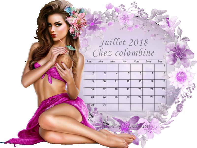 Calendrier colombine juillet 2018 signee